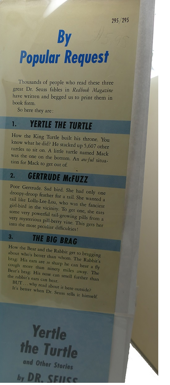 d5ac40ea3d3 YERTLE THE TURTLE AND OTHER STORIES