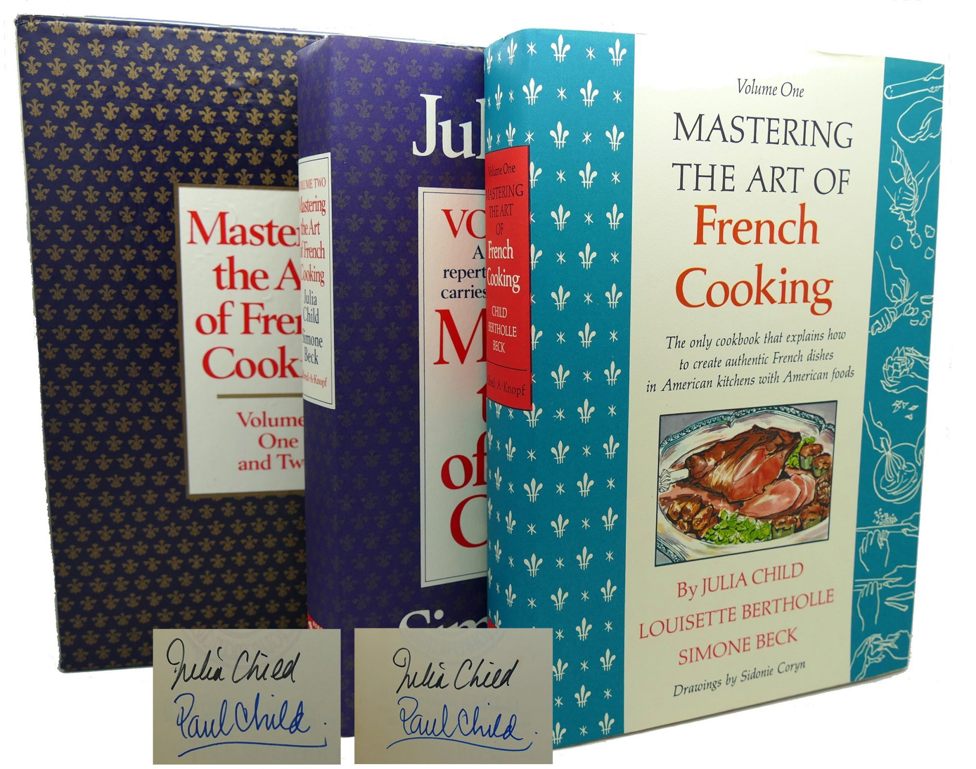 MASTERING THE ART OF FRENCH COOKING SIGNED 2 Volume Set