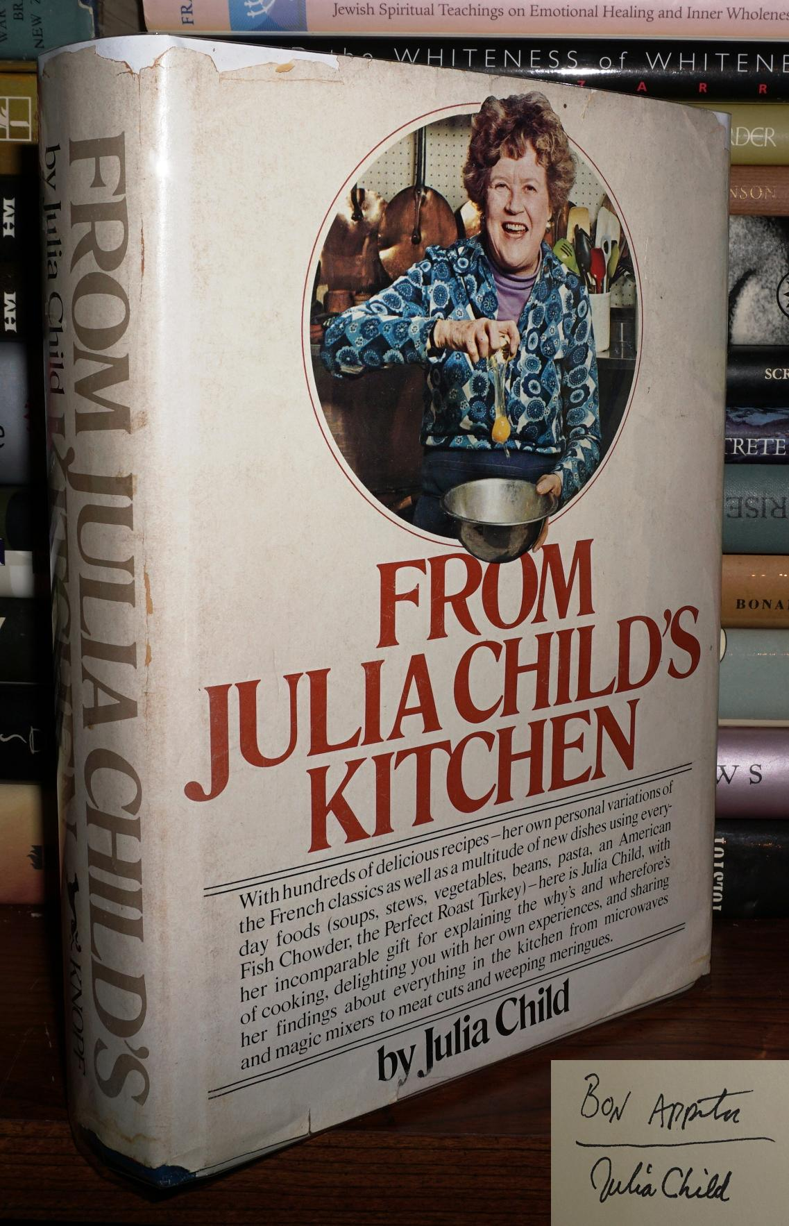 From Julia Child S Kitchen Signed 1st Julia Child Book Club Edition Second Printing