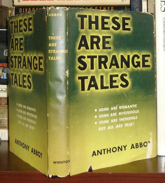 THESE ARE STRANGE TALES. Anthony Abbot.