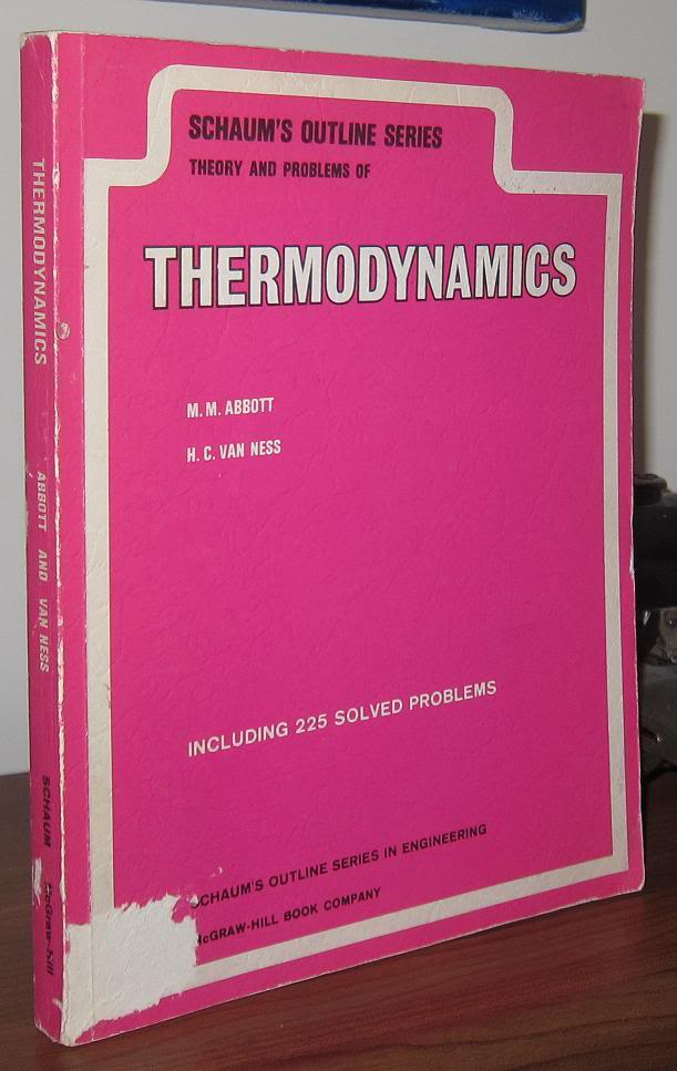 THEORIES AND PROBLEMS OF THERMODYNAMICS. Michael M. Abbott, Hendrick C. Van Ness.