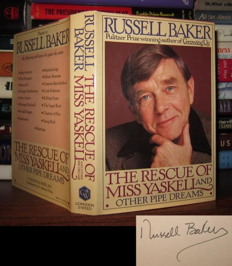 THE RESCUE OF MISS YASKELL Signed 1st. Russell Baker.