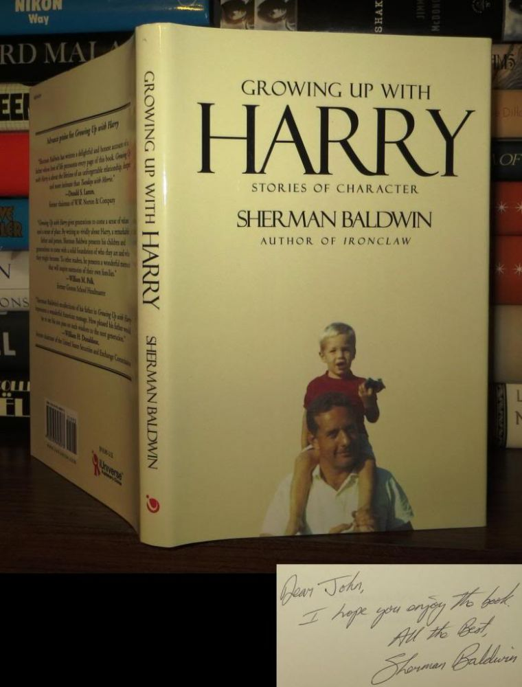 GROWING UP WITH HARRY Signed 1st. Sherman Baldwin.