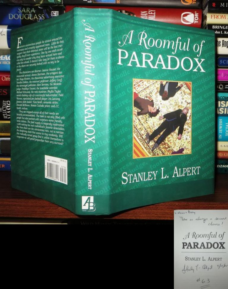 A ROOMFUL OF PARADOX Signed 1st. Stanley L. Alpert.