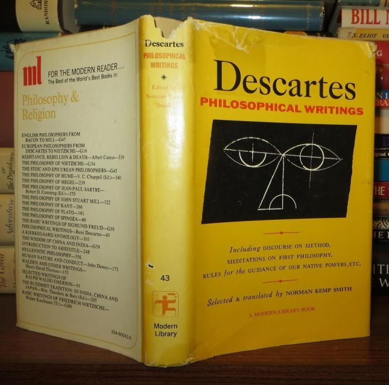 DESCARTES PHILOSOPHICAL WRITINGS. Rene Descartes, Norman Kemp Smith.