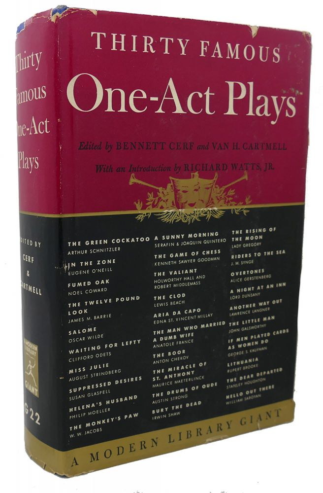 THIRTY FAMOUS ONE - ACT PLAYS. Bennett Cerf.