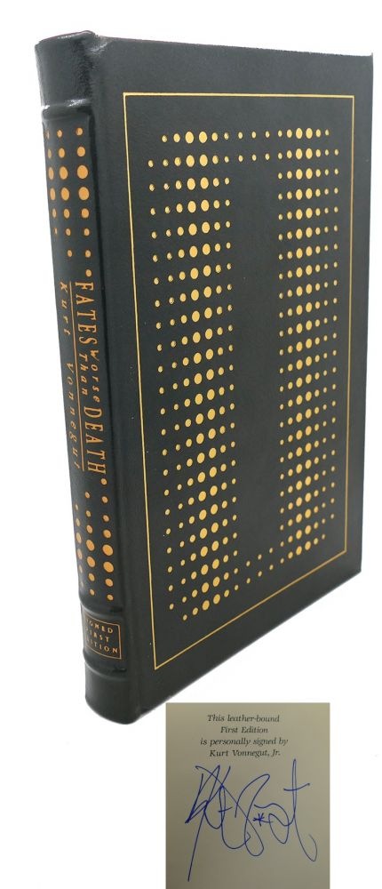 FATES WORSE THAN DEATH Signed Easton Press. Kurt Vonnegut.