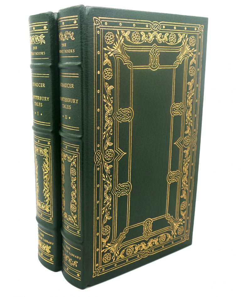 CANTERBURY TALES, VOL. I - II Franklin Library Great Books of the Western World. Geoffrey Chaucer.