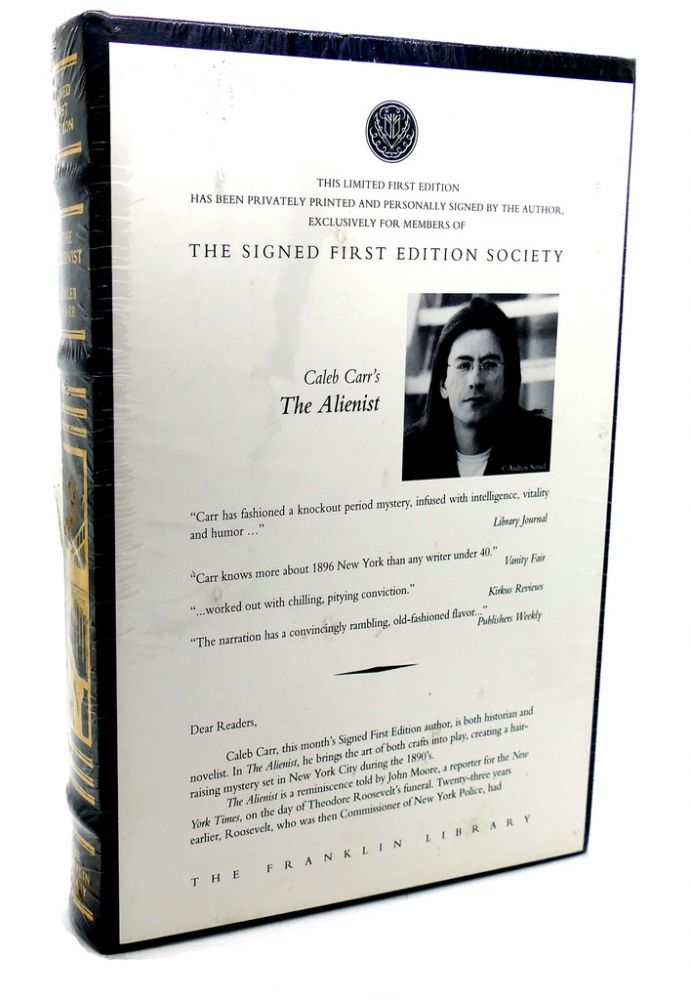 THE ALIENIST Signed 1st Franklin Library. Caleb Carr.