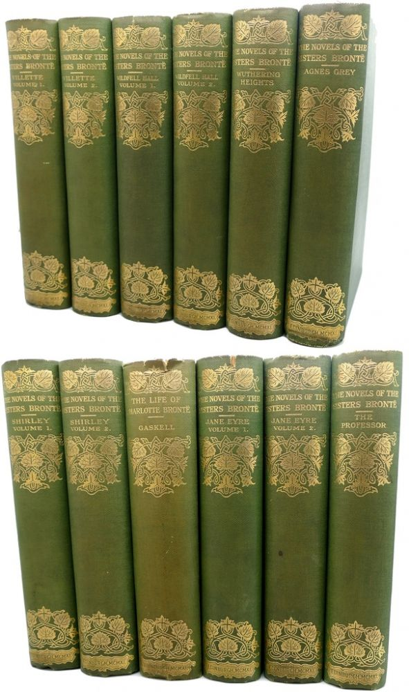 THE NOVELS OF THE SISTERS BRONTE Wuthering Heights, Jane Eyre, Shirley, Villette, the Tenant of Wildfe 12 Volumes Thornton Edition. Edited Temple Scott Bronte.