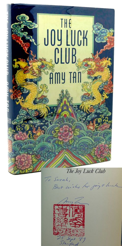 THE JOY LUCK CLUB Signed 1st. Amy Tan.
