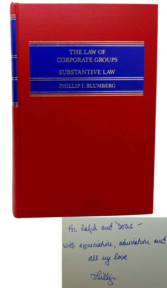 THE LAW CORPORATE GROUPS Substantive Law. Phillip I. Blumberg, Blumberg.