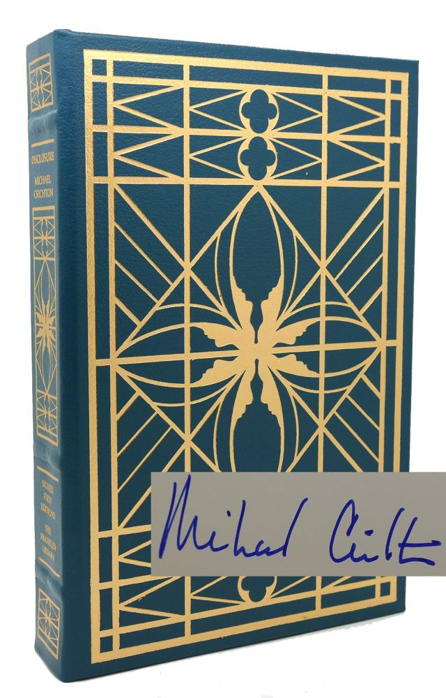 DISCLOSURE Signed 1st Franklin Library. Michael Crichton.