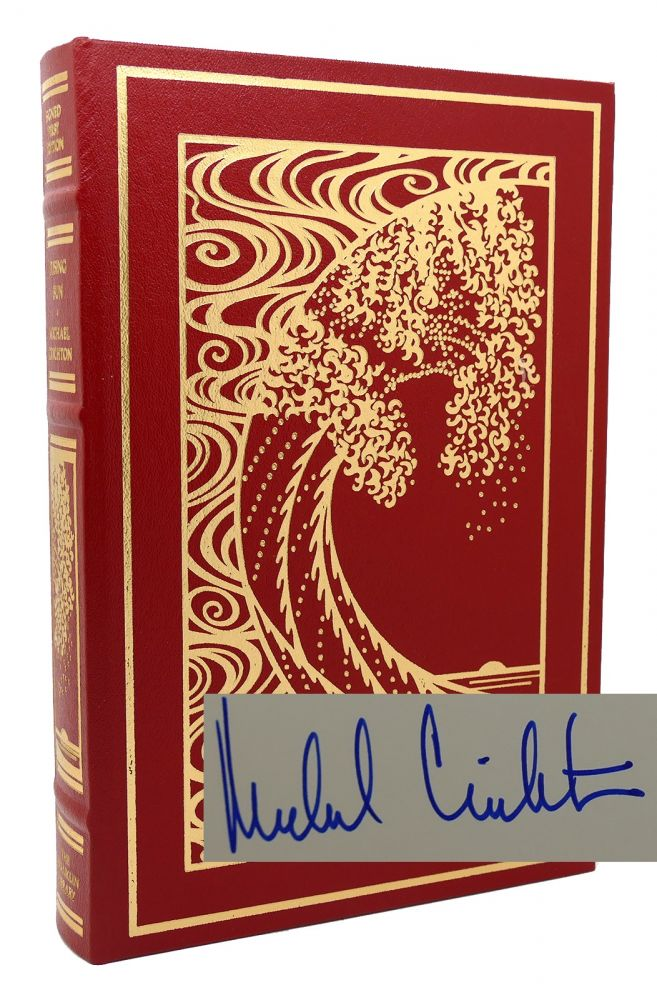RISING SUN Signed 1st Franklin Library. Michael Crichton.