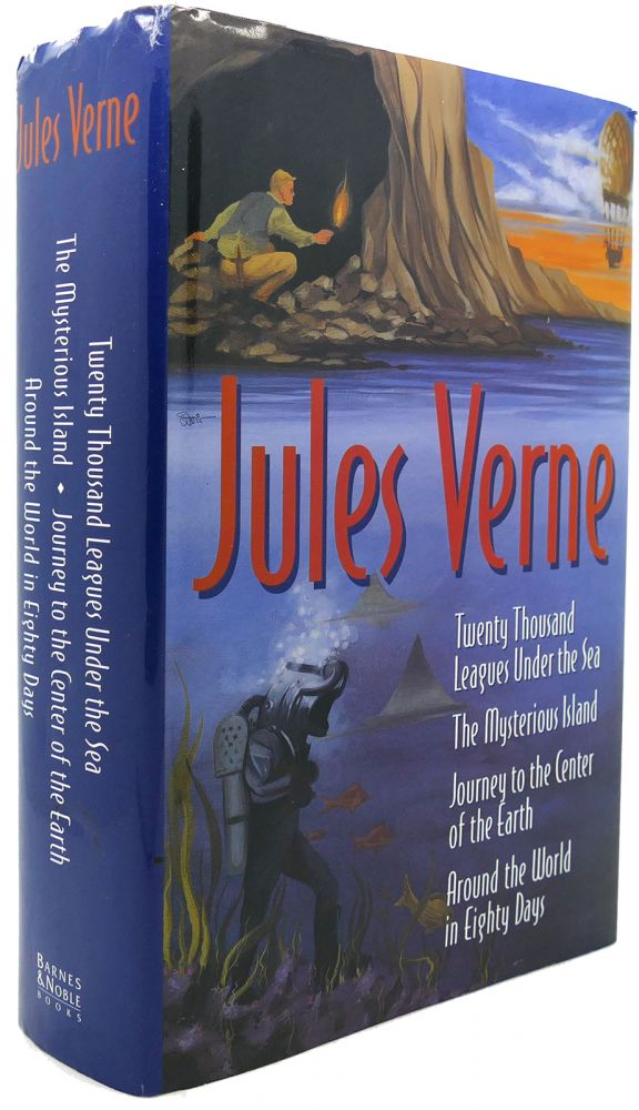 TWENTY THOUSAND LEAGUES UNDER THE SEA, THE MYSTERIOUS ISLAND, Journey to the Center of the Earth, around the World in Eighty Days. Jules Verne.