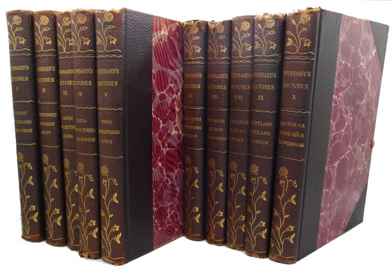 JOHN L. STODDARD'S LECTURES COMPLETE Ten Volume Set with Four Supplements. John L. Stoddard.