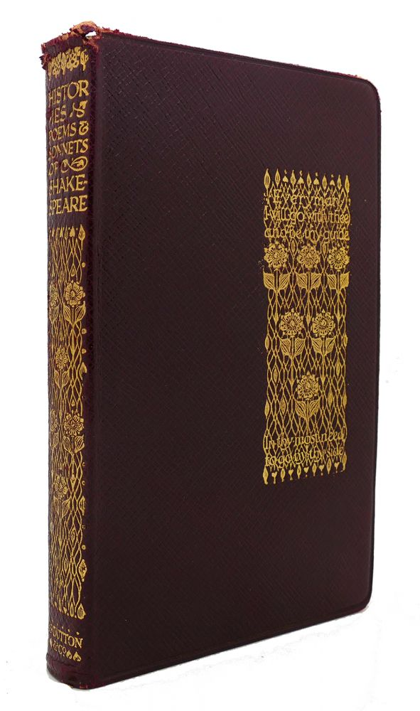 HISTORIES, POEMS, AND SONNETS OF WILLIAM SHAKESPEARE. William Shakespeare.