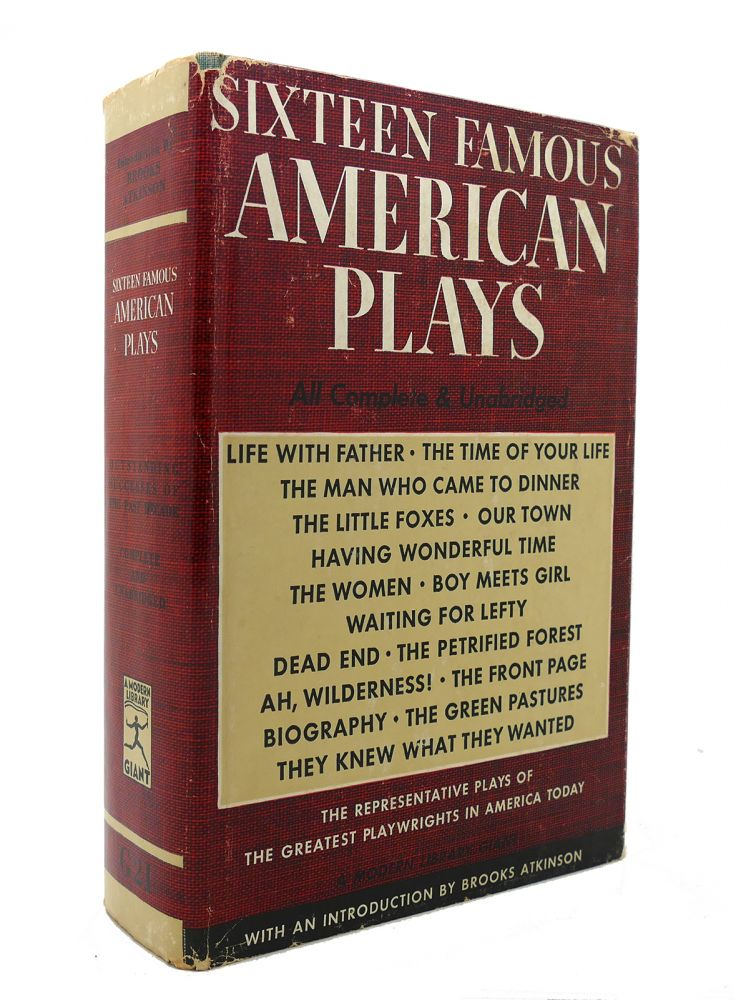 SIXTEEN FAMOUS AMERICAN PLAYS Modern Library # G21. Bennet A. Cerf.