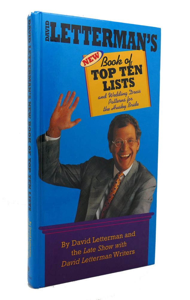 DAVID LETTERMAN'S BOOK OF TOP TEN LISTS And Wedding Dress Patterns for the Husky Bride. David Letterman.