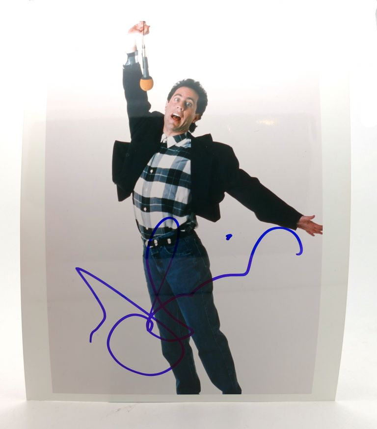 JERRY SEINFELD SIGNED PHOTOGRAPH Autographed. Jerry Seinfeld.