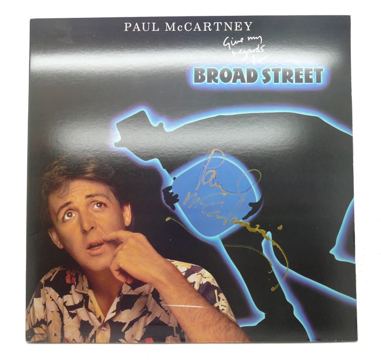GIVE MY REGARDS TO BROAD STREET Signed Promo Copy. Paul McCartney.
