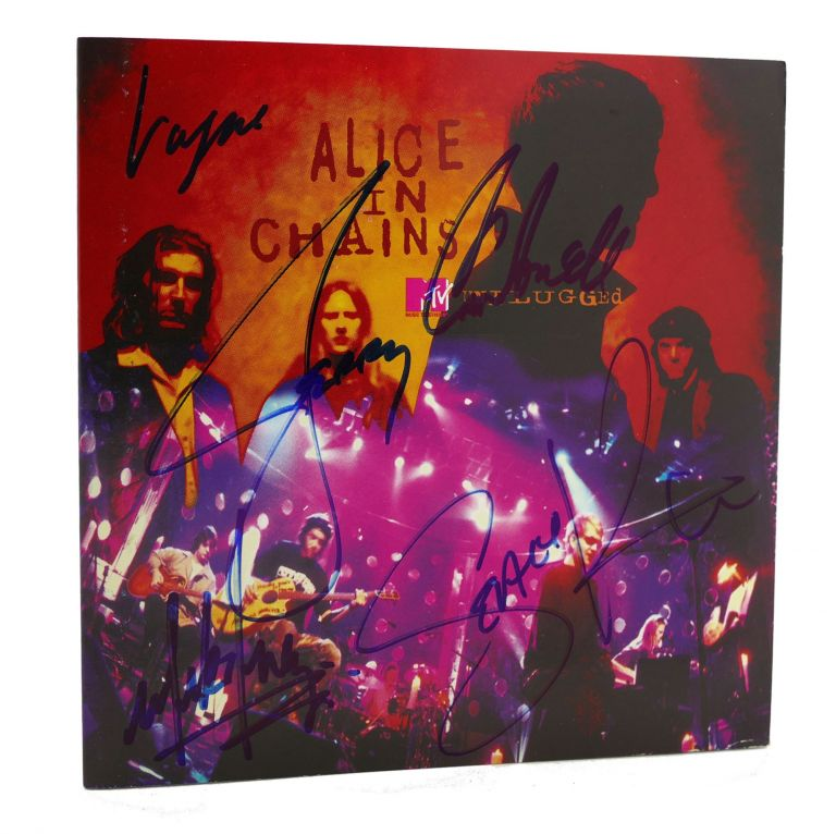 SIGNED ALICE IN CHAINS UNPLUGGED Signed. Jerry Cantrell Layne Staley, Sean Kinney, Mike Inez.