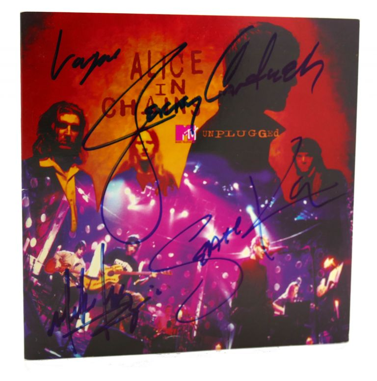 ALICE IN CHAINS UNPLUGGED Signed. Jerry Cantrell Layne Staley, Mike Inez, Sean Kinney.
