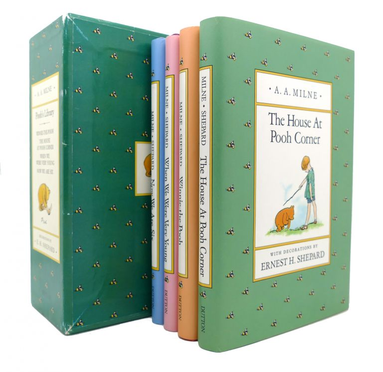 POOH'S LIBRARY WINNIE-THE-POOH, THE HOUSE AT POOH CORNER, WHEN WE WERE VERY YOUNG, NOW WE ARE SIX. A. A. Milne.