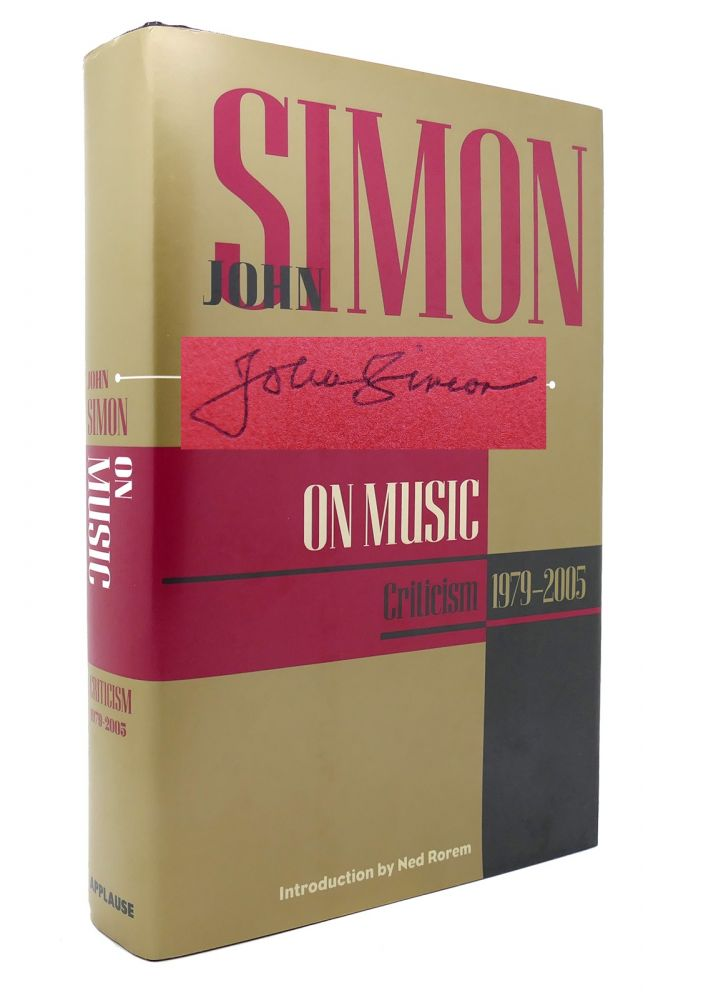 JOHN SIMON ON MUSIC Signed 1st. John Simon.