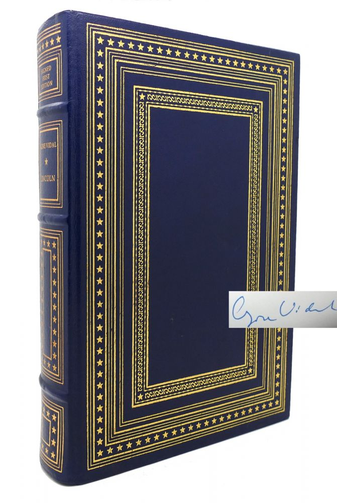 LINCOLN Signed 1st Franklin Library. Gore Vidal.