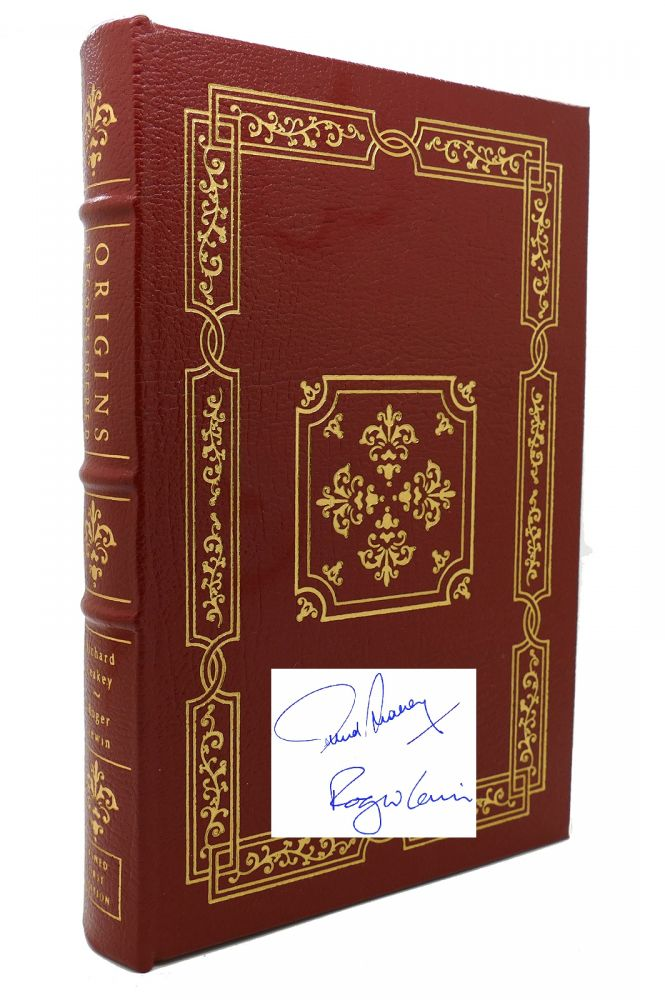 ORIGINS RECONSIDERED Signed Easton Press. Roger Lewin Richard Leakey.