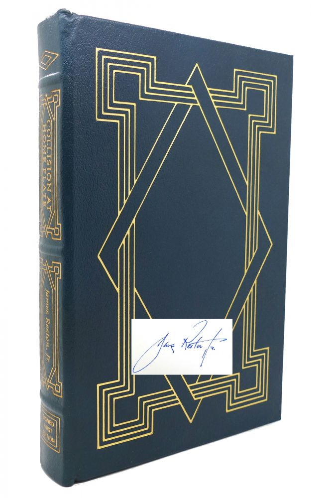 COLLISION AT HOME PLATE Signed Easton Press. James Reston Jr.