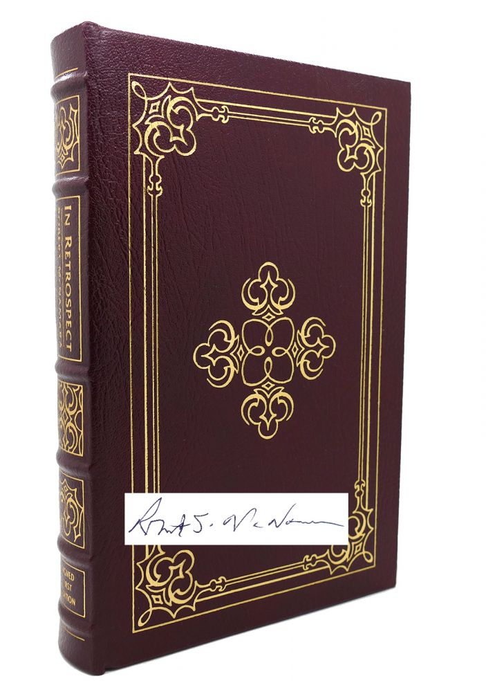 IN RETROSPECT Signed Easton Press. Robert S. McNamara.