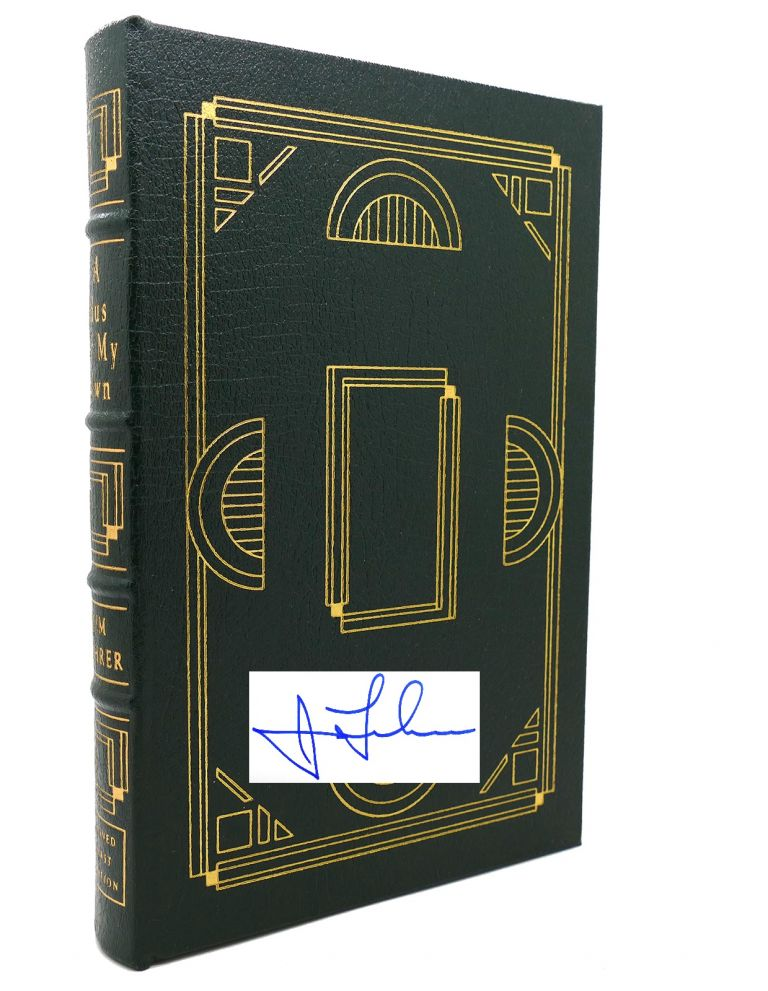 A BUS OF MY OWN Signed Easton Press. Jim Lehrer.
