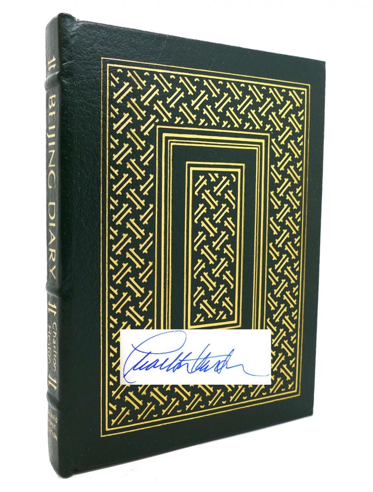 BEIJING DIARY Signed Easton Press. Charlton Heston.