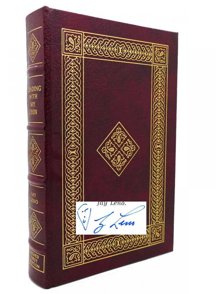LEADING WITH MY CHIN Signed Easton Press. Bill Zehme Jay Leno.