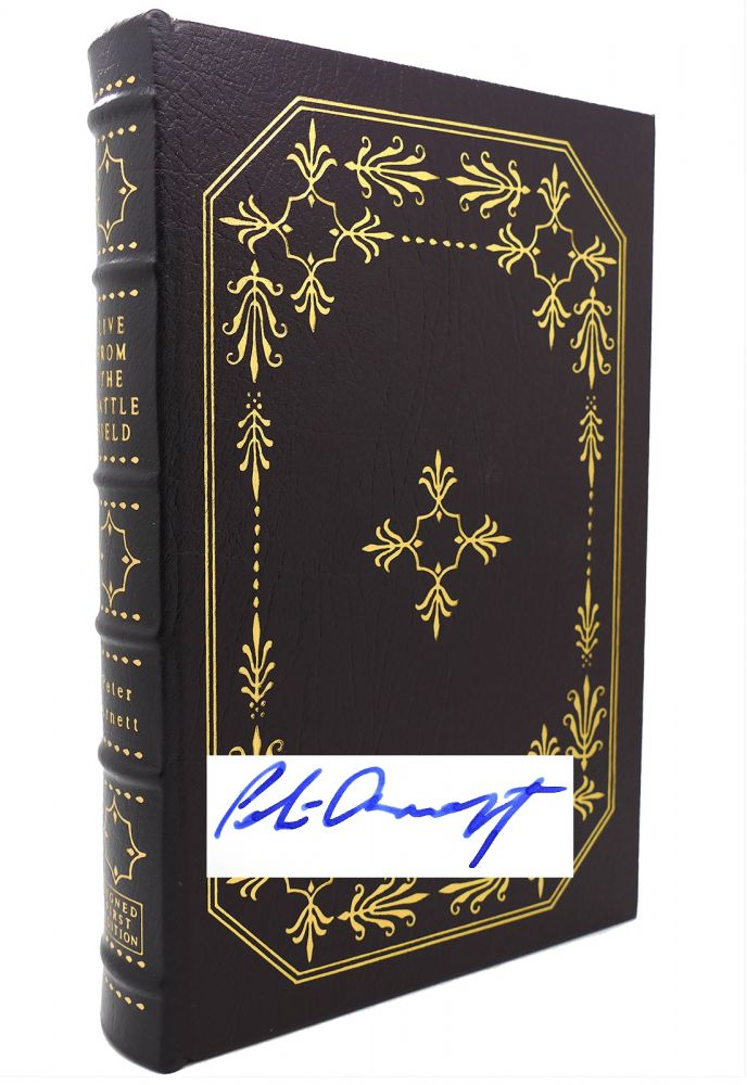 LIVE FROM THE BATTLEFIELD : Signed Easton Press. Peter Arnett.
