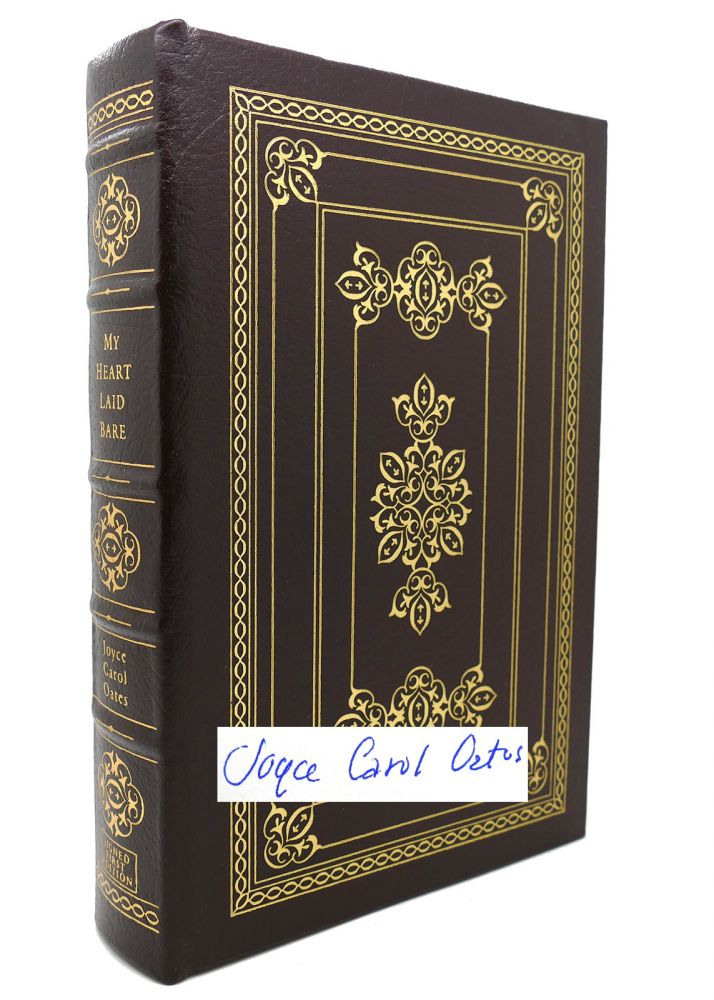 MY HEART LAID BARE Signed Easton Press. Joyce Carol Oates.