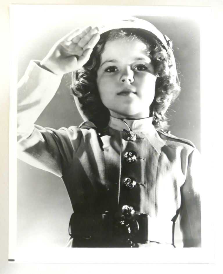 SHIRLEY TEMPLE PHOTO Saluting. Shirley Temple.
