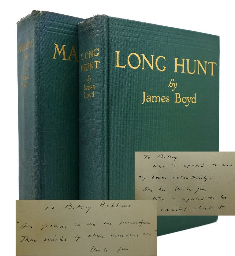 LONG HUNT / MARCHING ON Two Signed Copies. James Boyd.