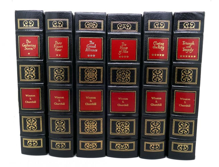 THE SECOND WORLD WAR GATHERING STORM; THEIR FINEST HOUR; GRAND ALLIANCE; HINGE OF FATE; CLOSING THE RING; TRIUMPH Easton Press Collector's Edition 6 Volume Set. Winston Churchill.