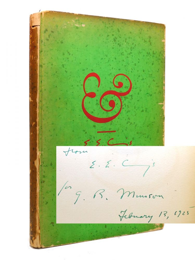 AMPERSAND Signed 1st. E. E. Cummings.