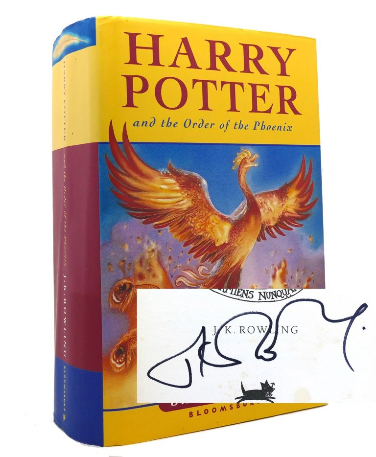 HARRY POTTER AND THE ORDER OF THE PHOENIX Signed 1st UK. J. K. Rowling.
