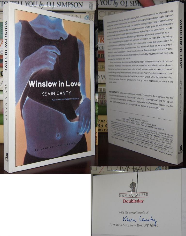 WINSLOW IN LOVE Signed 1st. Kevin Canty.