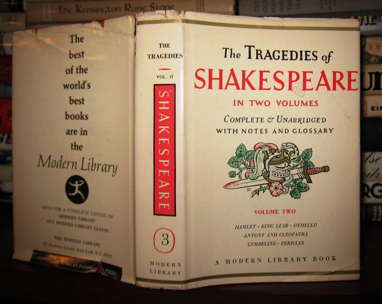 THE TRAGEDIES OF SHAKESPEARE Complete & Unabridged with Notes and Glossary; Volume Two. William Shakespeare.