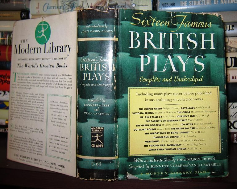 SIXTEEN FAMOUS BRITISH PLAYS. Bennett A. Cerf.