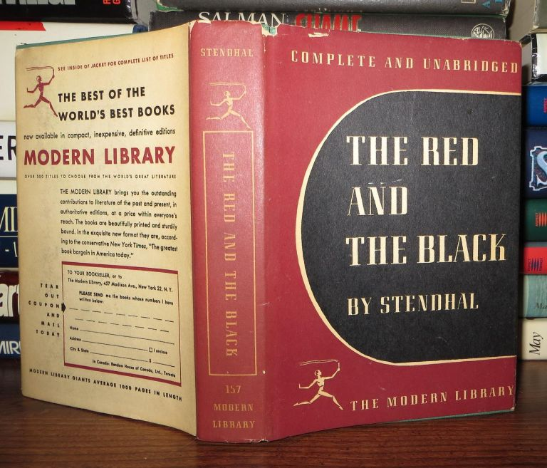 THE RED AND THE BLACK. Marie-Henri Beyle De Stendhal.