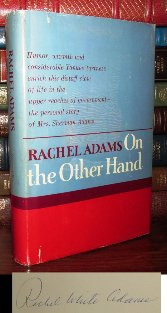 ON THE OTHER HAND Signed 1st. Rachel Adams.