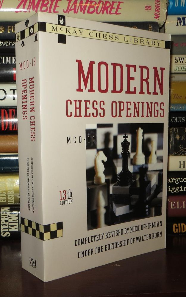 MODERN CHESS OPENINGS McO-13, 13th Edition by Nick Defirmian, Walter Korn  on Rare Book Cellar
