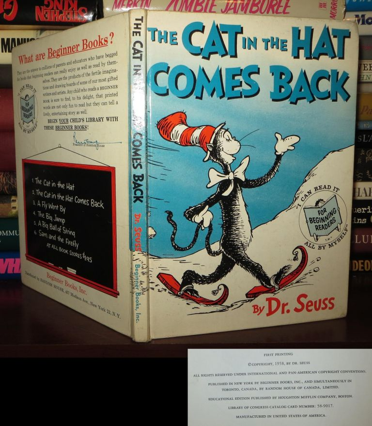 THE CAT IN THE HAT COMES BACK. Dr. Seuss.